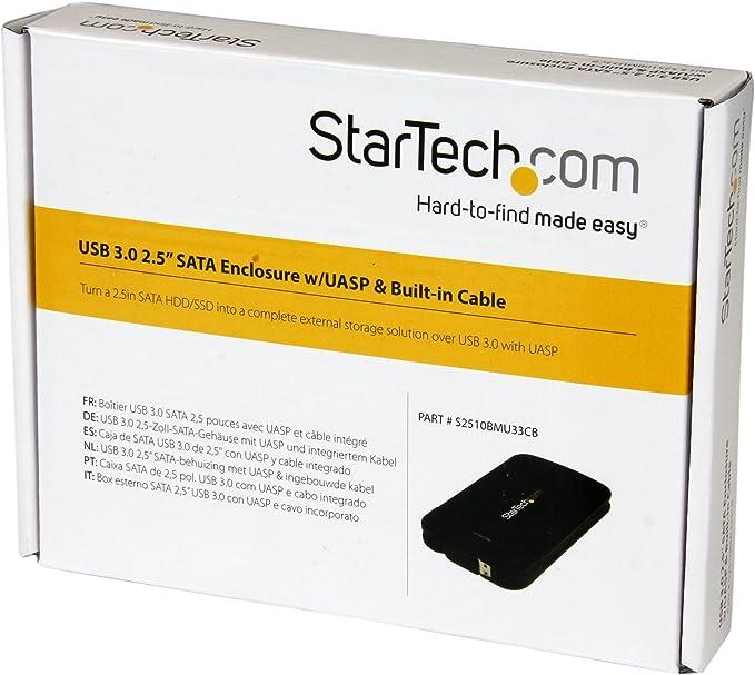 StarTech.com S2510BMU33CB - Caja de Disco Duro USB 3.0 UASP con ...