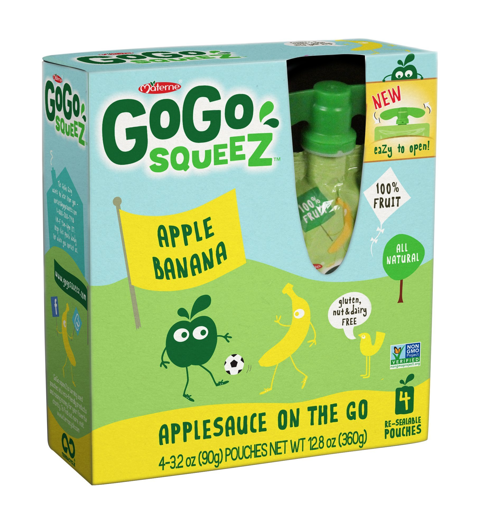Gogo Squeeze Applesauce with Bananas, 4pk, 3.2 oz by GoGo SqueeZ