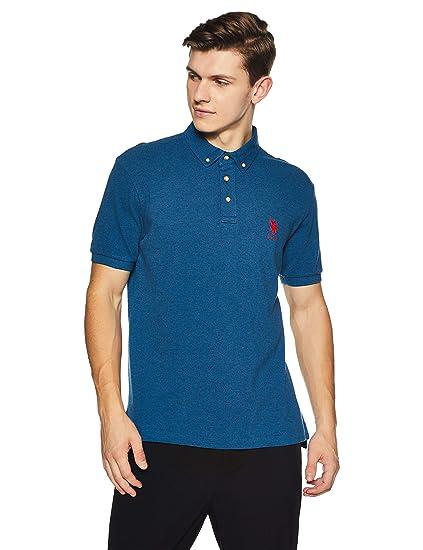 fa5d07689 US Polo Men's Solid Regular Fit T-Shirt