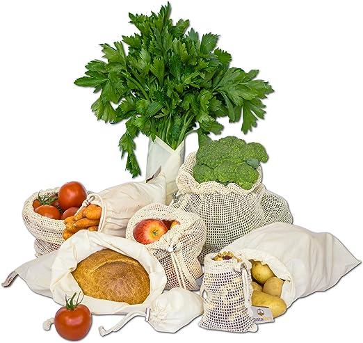 Bolsas de algodón orgánico reutilizables – PataBee Zero Waste ...