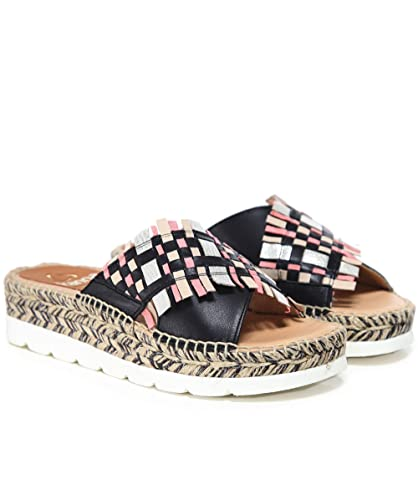 b341ebe8dfc Amazon.com | Kanna Women's Crossover Espadrille Wedge Sandals Multi ...
