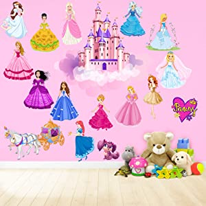 Princess Wall Decals for Kids-Rooms