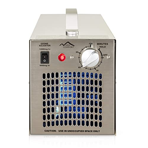 Stainless Steel Commercial Ozone Generator UV Air Purifier 12000 mg hr Industrial