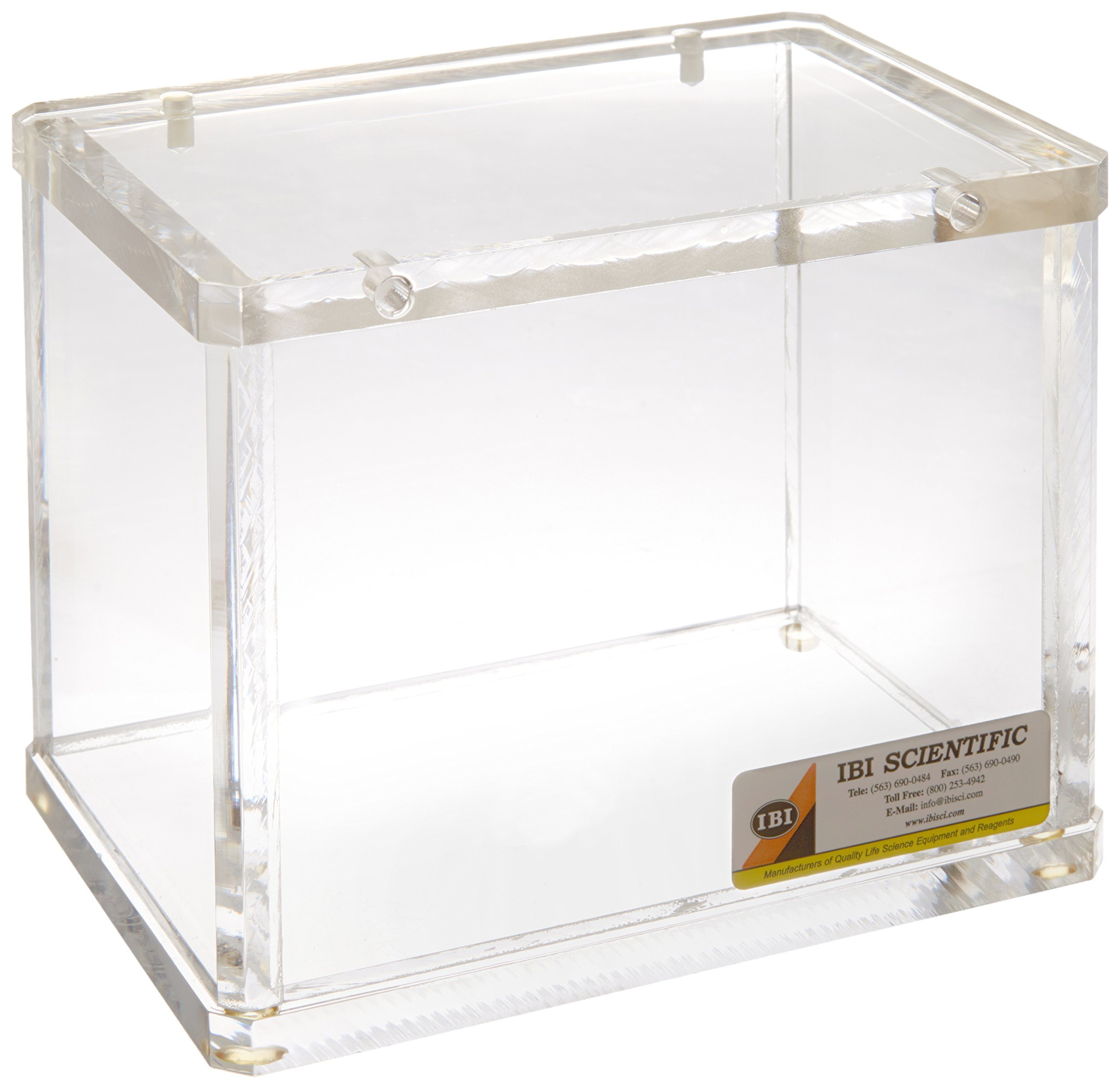 IBI Scientific FR-100 Cast Acrylic Storage Protection Container, 16.5cm H x 20.3cm W x 14cm D