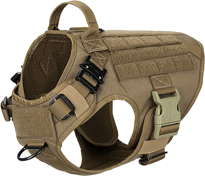 ICEFANG Tactical Dog Harness with 2X Metal