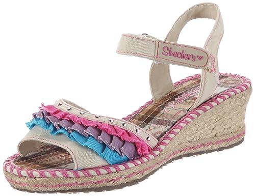c26234b06 Skechers Tikis Ruffle Ups - Sandalias de tela niña