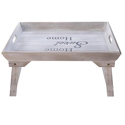 elbmöbel cama Bandeja (Madera, 48 x 33 x 25 cm Bandeja para desayuno en