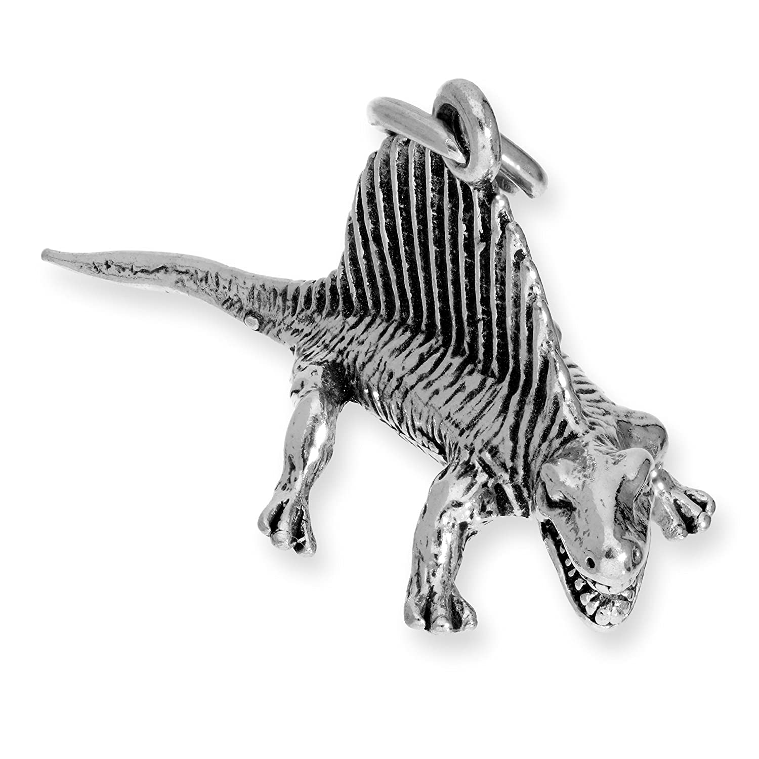 TheCharmWorks Sterling Silver Dimetrodon Dinosaur Charm
