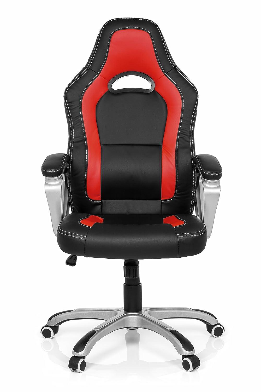 MyBuero Silla Gaming Gaming Zone Pro AB100 Piel sintética Negro/Rojo Silla de Oficina 722090: Amazon.es: Hogar