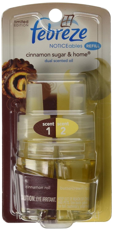 Febreze Noticeables Scented Cinnamon Sugar & Home Oil Refill ~ Cinnamon Roll & Buttercream Icing ~ 1/ea P&G