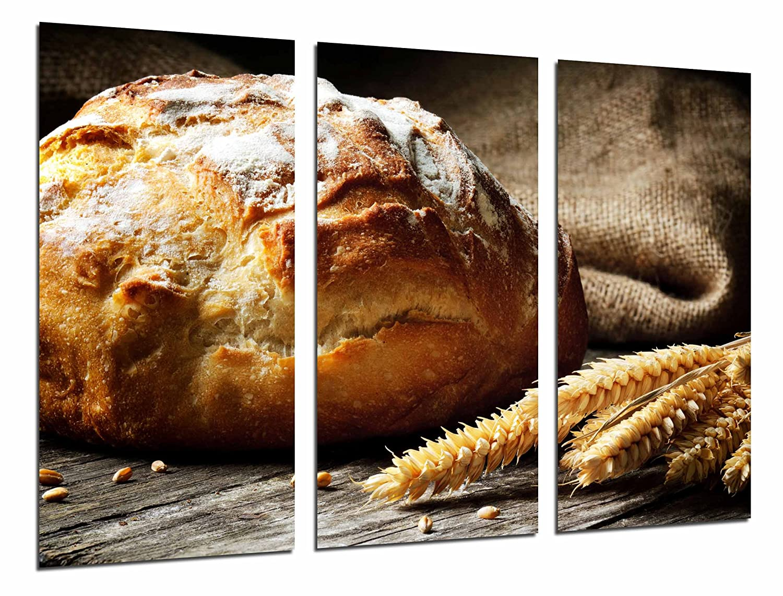 Poster Moderno Fotografico Hogaza de pan, trigo, panaderia, Pasteleria, 97 x 62 cm, ref. PST26575: Amazon.es: Hogar