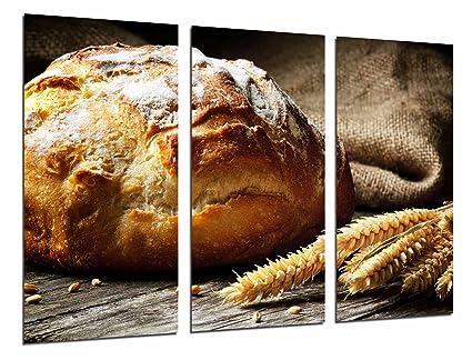 Poster Moderno Fotografico Hogaza de pan, trigo, panaderia, Pasteleria, 97 x 62