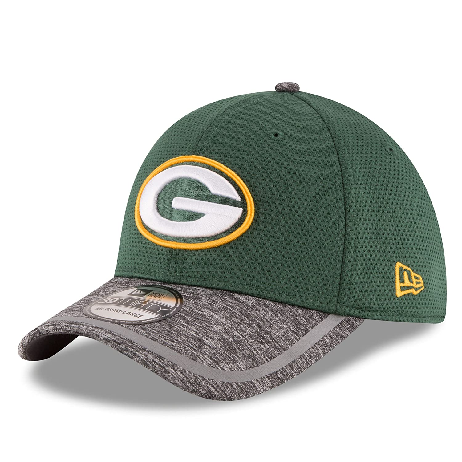 6889b12ecb9334 Amazon.com : New Era Green Bay Packers 2016 Training Camp 39THIRTY Flex Fit  Hat : Clothing