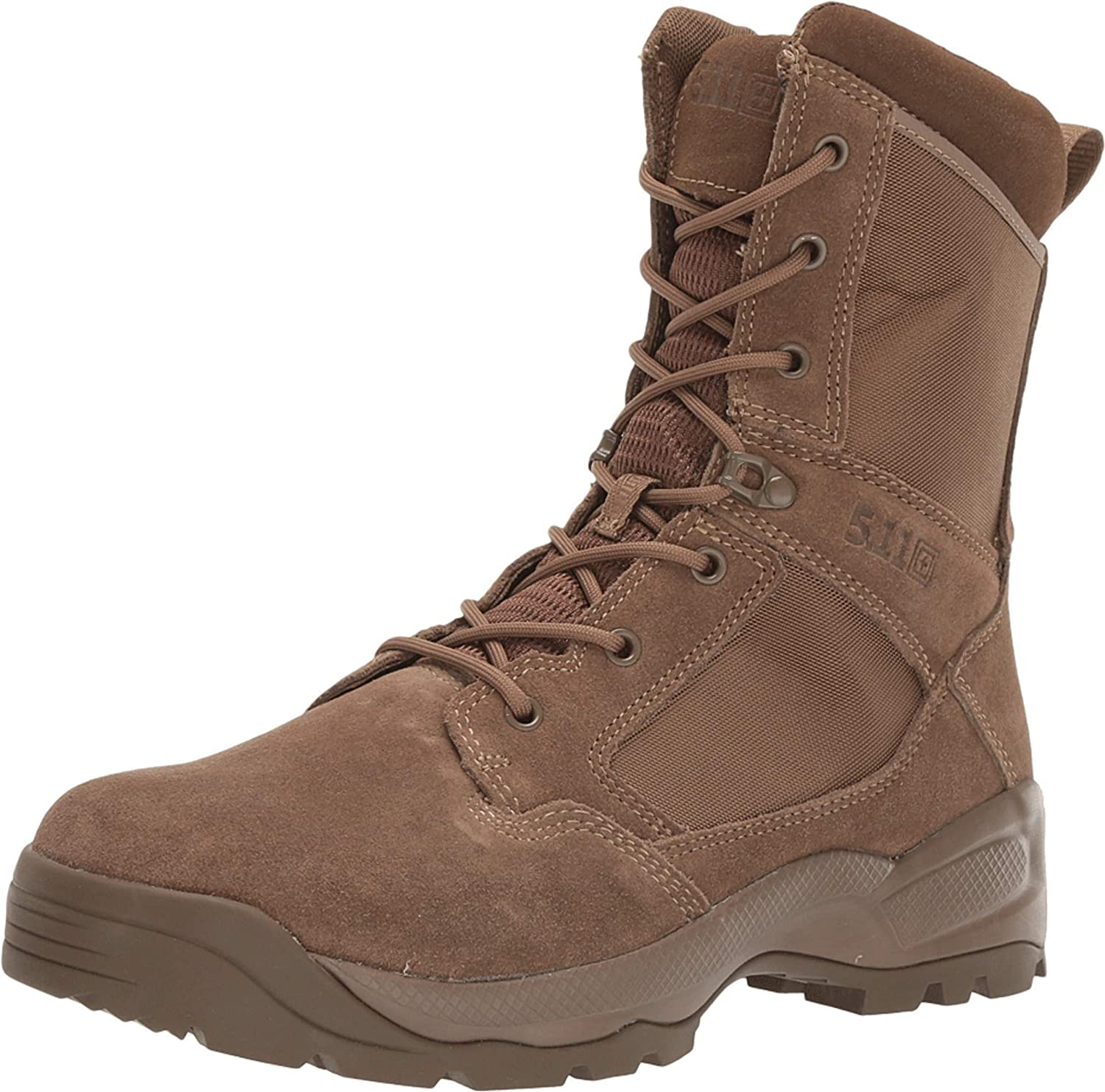 "5.11 Men's ATAC 2.0 8"" Tactical Side Zip Military Boot, Style 12393, Dark Coyote"