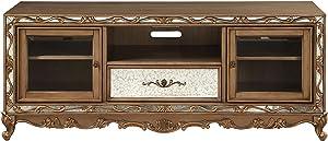 ACME Furniture Orianne TV Stand, Antique Gold
