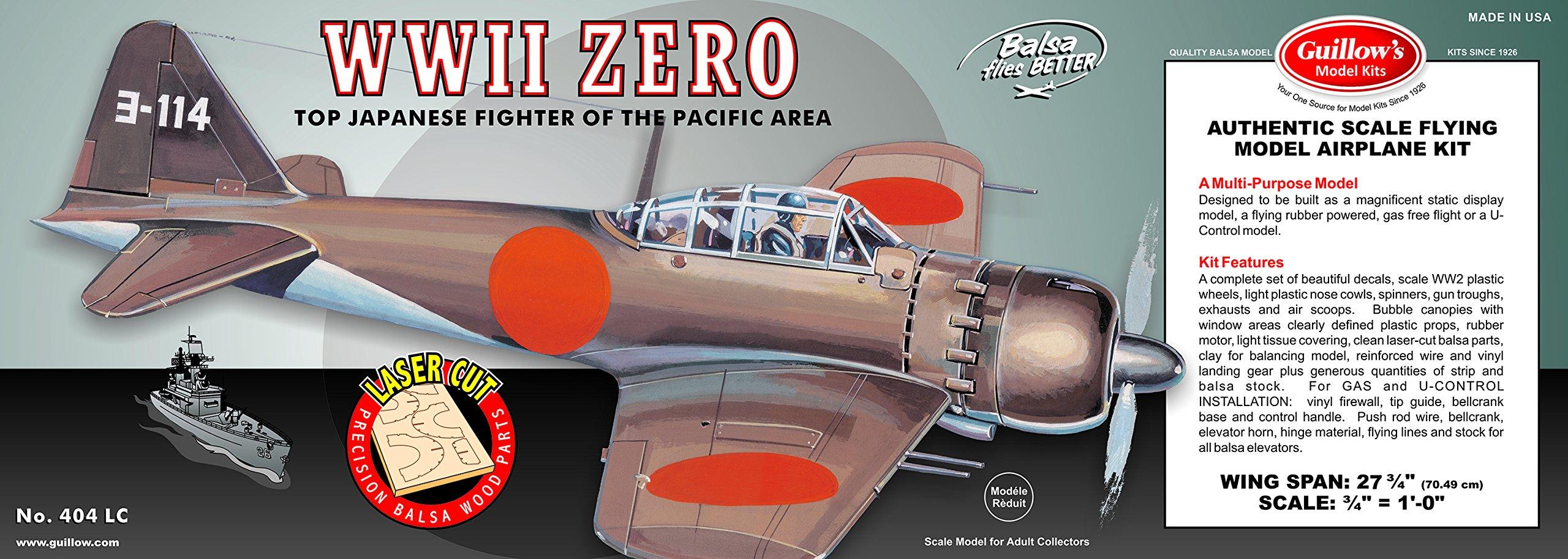 Guillow's WWII Zero Laser Cut Model Kit by Guillow