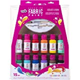 Tulip 40573 Palette Kit Brush-On Paint, 15 Piece, Multi