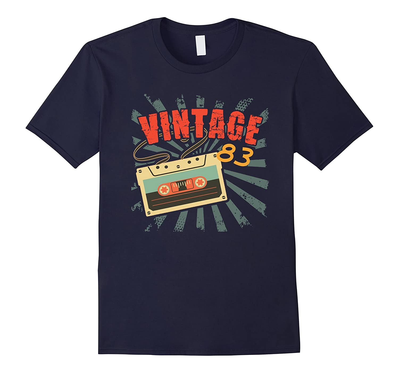 Born in 1983 34th Birthday Vintage 83 80's Kid Gift T-Shirt-FL
