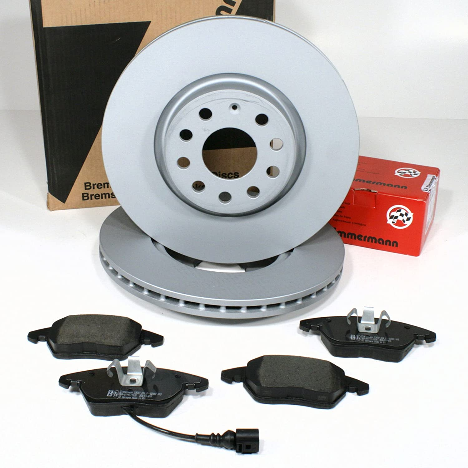 Zimmermann Brake DISCS Ø 288 MM Coat Z/with Brake Front Cable Alarm, Front Axle Autoparts-Online