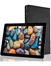 Tablet 10.1 Pulgadas Android 2GB RAM - Winnovo VTab 16GB de Memoria Quad-Core Tablet PC WiFi Pantalla 1280 x 800 HD 2MP + 5MP Cámara Doble con Carcasa portátil Protectora 6600mAh Bateria(Negro)