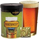 Mr. Beer Northwest Pale Ale 2 Gallon Homebrewing Craft Beer Making Refill Kit with Sanitizer, Yeast and All Grain Brewing Extract Comprised of the Highest Quality Barley and Hops