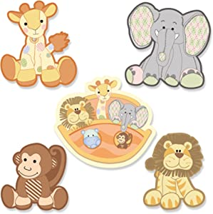 Big Dot of Happiness Noah's Ark - DIY Shaped Baby Shower or Birthday Party Cut-Outs - 24 Count