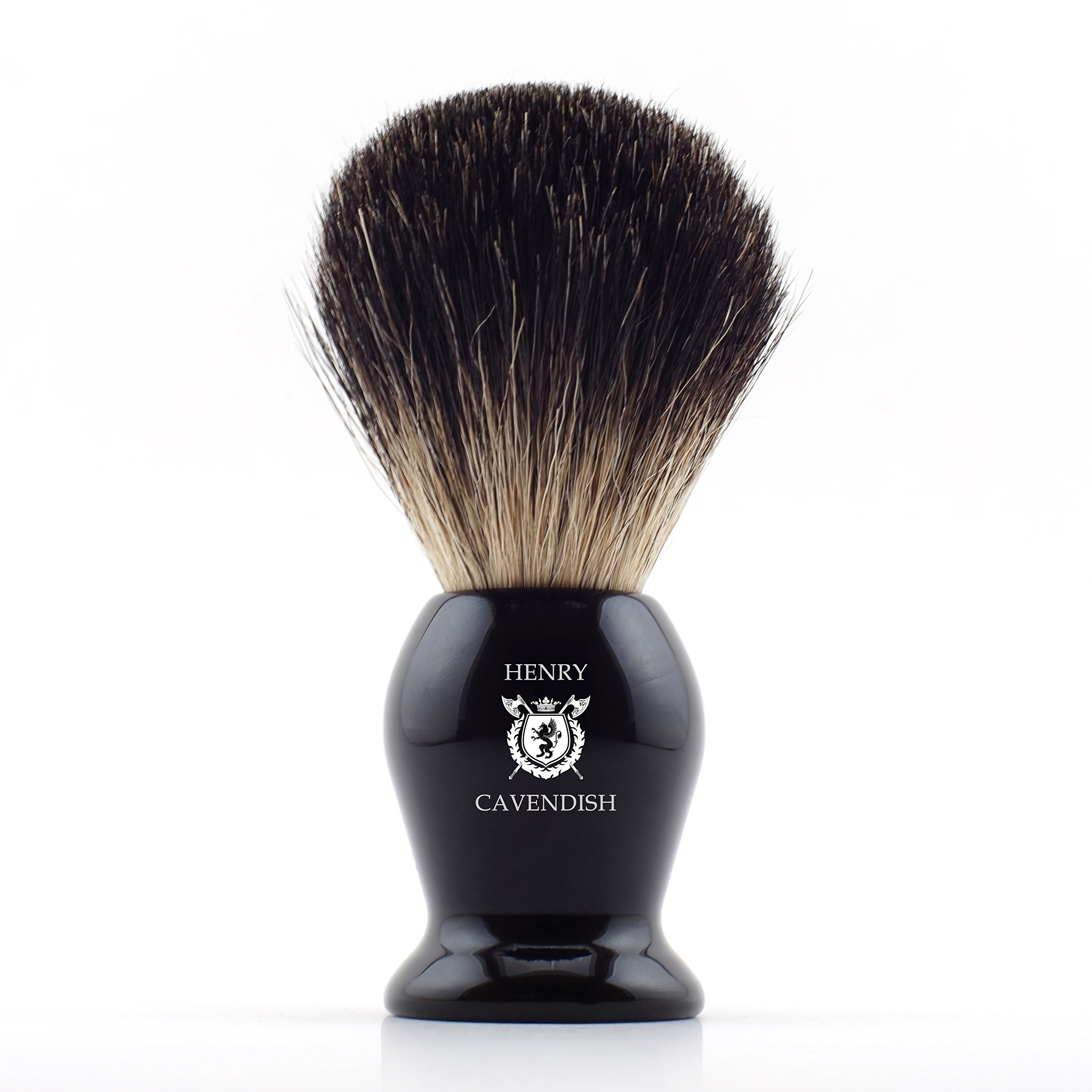 Henry Cavendish Gentleman's 100% Pure Badger Hair Shaving Brush. Enhance Your Shave with the Best Brush and get a Good Shaving Mug