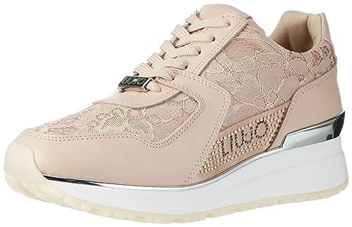 f8fa16ef3808c Liu Jo Scarpe Donna Sneakers Basse S17157 P0280 Running ASAMI Taglia 38  Rosa  Amazon.it  Scarpe e borse
