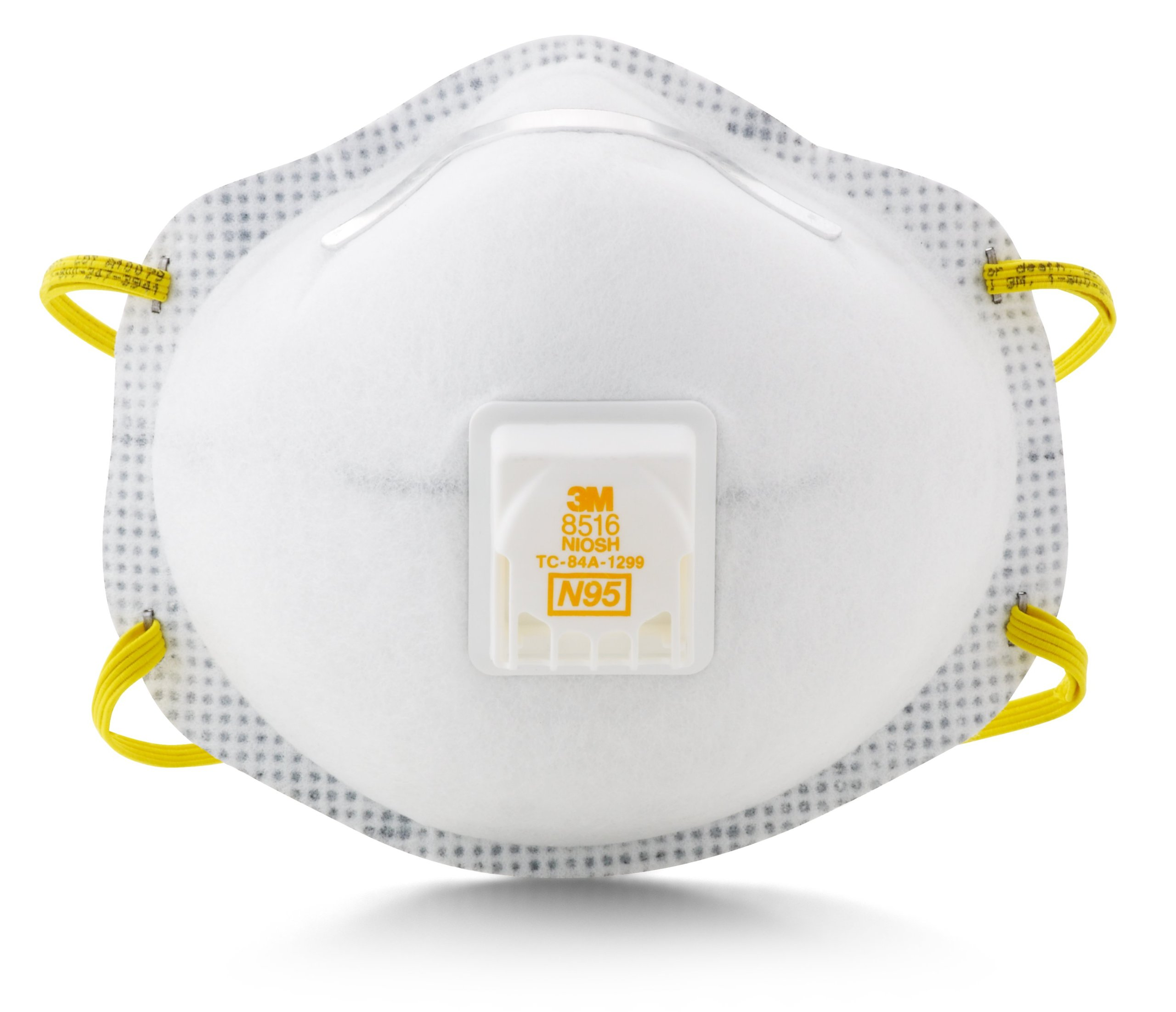 3M Particulate Respirator 8516, N95, with Nuisance Level Acid Gas Relief (Pack of 10)