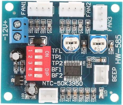 NOYITO DC12V 5A PWM 4 cables PC Ventilador Temperatura Controlador ...
