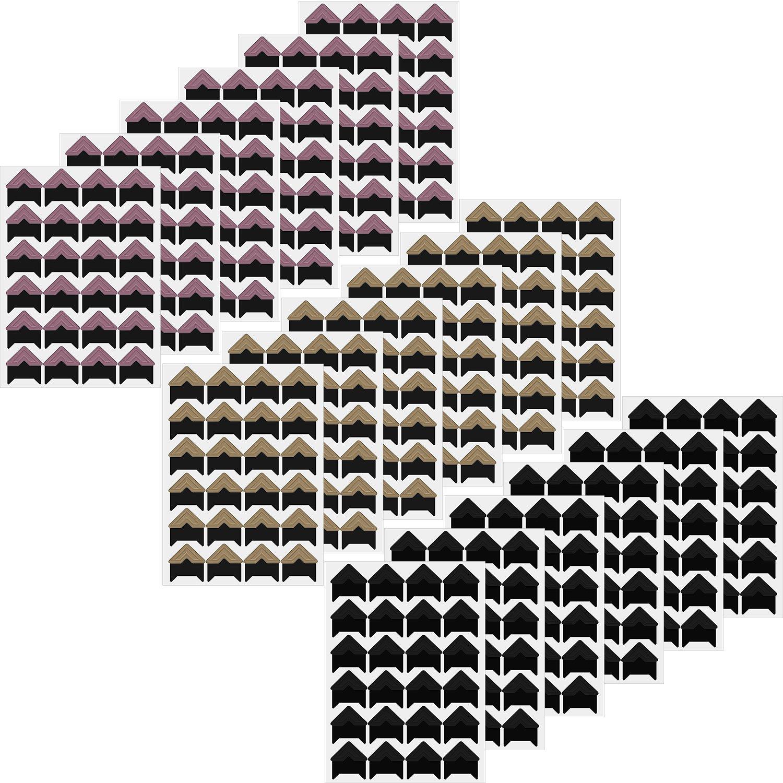 Zhanmai 432 Pezzi Foto Angolo Autoadesiva Immagine Cornice Foto Angolo Adesivo di Carta Per Fai Da Te Scrapbook e Album di Foto, 3 Colori