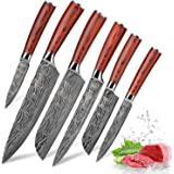 Kitchen Knife Sets, FineTool Professional Chef Knives Set Japanese 7Cr17mov High Carbon Stainless Steel Vegetable Meat Cookin