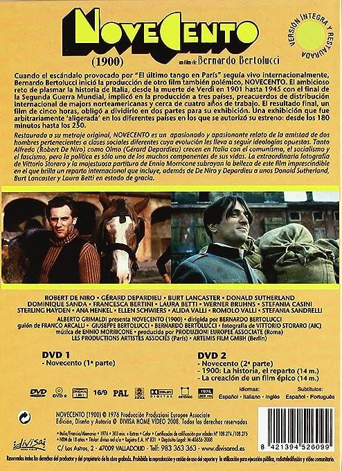 Novecento (1900): Edición Especial (2 DVD + Libro): Amazon.es: Robert De Niro, Burt Lancaster, Gérard Depardieu, Francesca Bertini, Laura Betti, ...