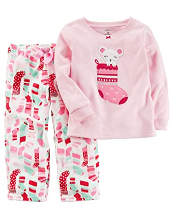 a64860e9d Amazon.com  Carter s Girls  2T-4T Mouse Stocking Fleece Pajamas ...