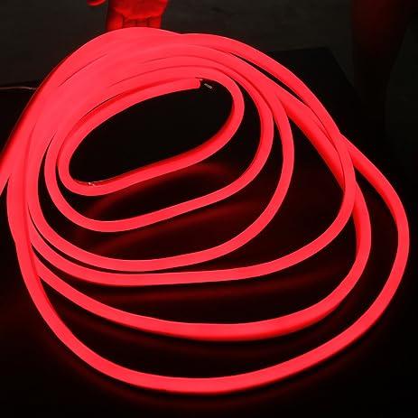 Amazon led strip neon rope light 30 ft 12v red jacket red led strip neon rope light 30 ft 12v red jacket red light led neon flex tube aloadofball Choice Image