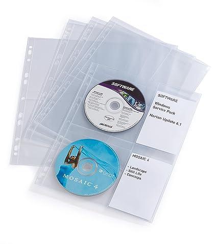 Durable Cover Light - Fundas para CD/DVD (paquete de 10), transparente