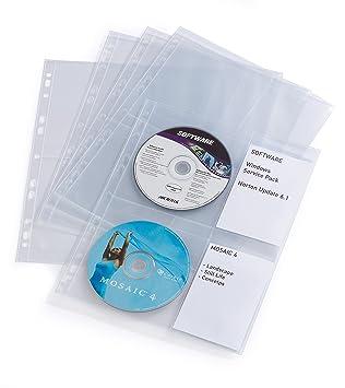Durable 267119 - Paquete de 10 portafolios de plástico A3, transparente, 10 Unidades