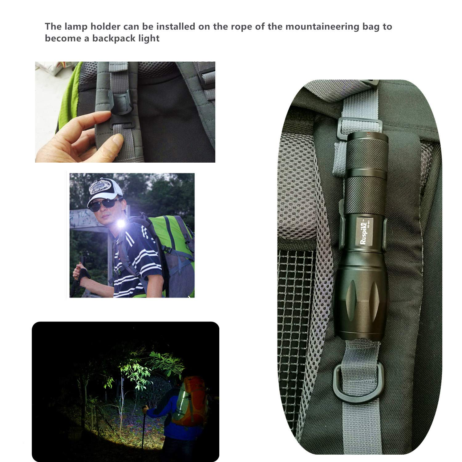 LED Tactical Flashlight Super Bright Handheld LED Flashlight with Adjustable Focus and Water Resistant Emergency Perfect for Camping,Hiking,Outdoor