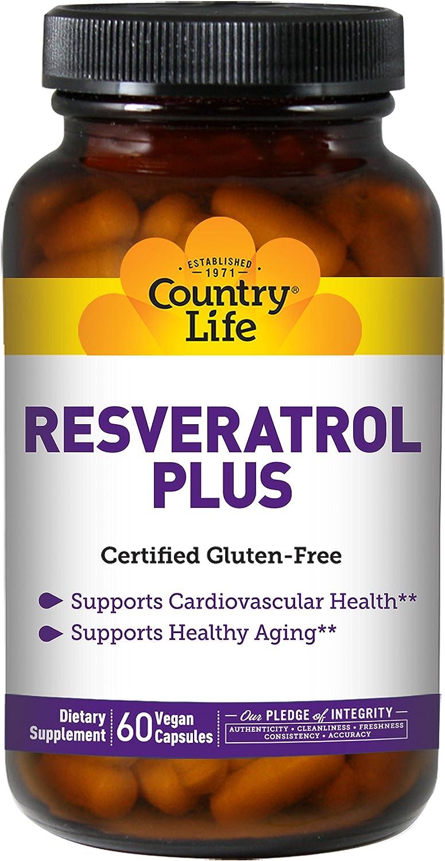 Country Life Resveratrol Plus, Antioxidant - 60 Vegetarian Capsules