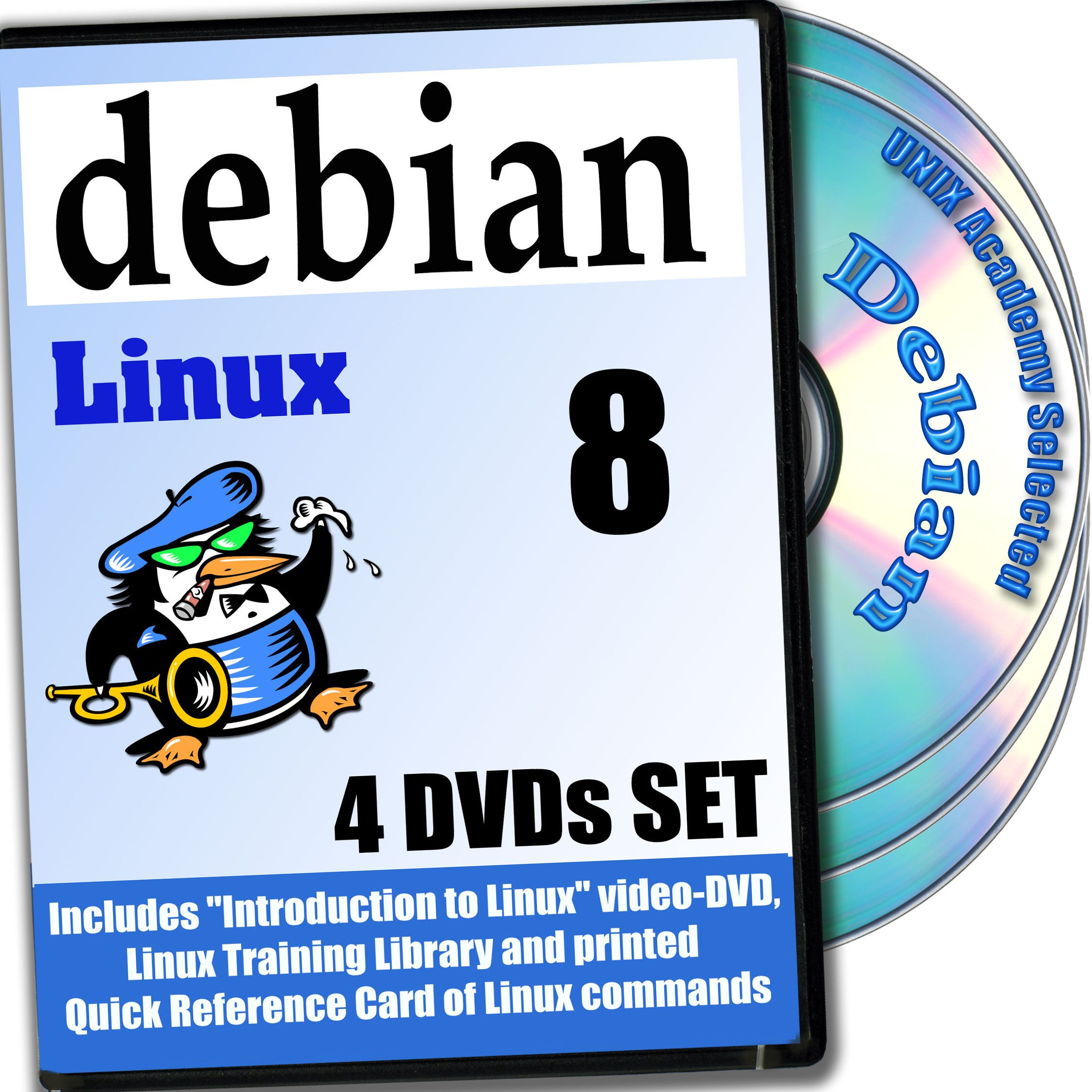 Debian 8, 4-disks DVD Installation and Reference Set by PRIZIX