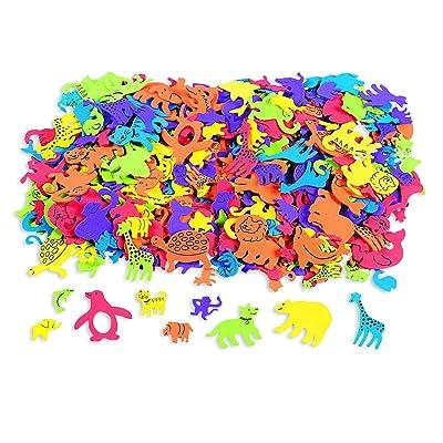 Fun Express Foam Self-Adhesive Animal Shapes (500 Piece): Toys & Games