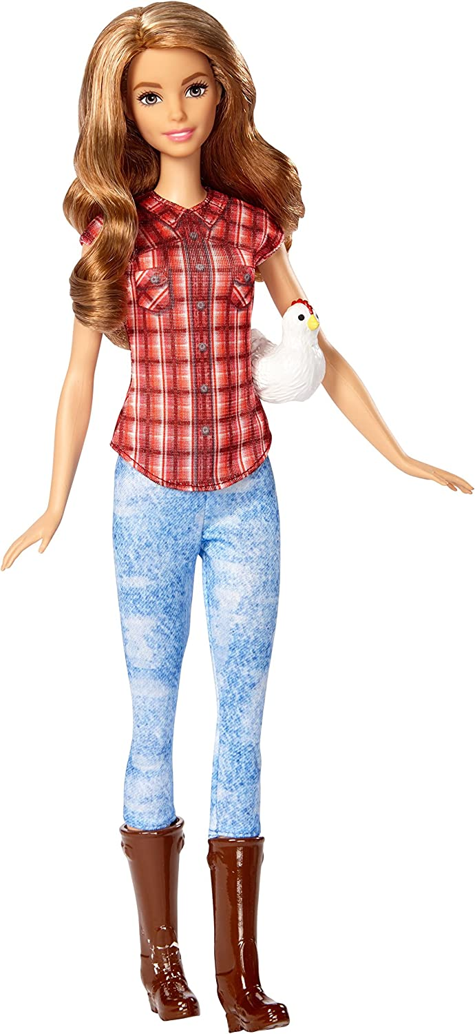 Barbie Careers Barbie Farmer Doll with Chicken Mattel Brand New Free Shipping