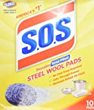 S.O.S Steel Wool Soap Pads (2 Packs of 10, total 20)