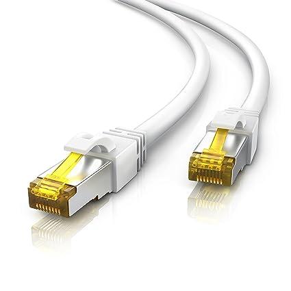 Populære CSL - 20m CAT 7 Netzwerkkabel Gigabit Ethernet LAN: Amazon.de WY-34