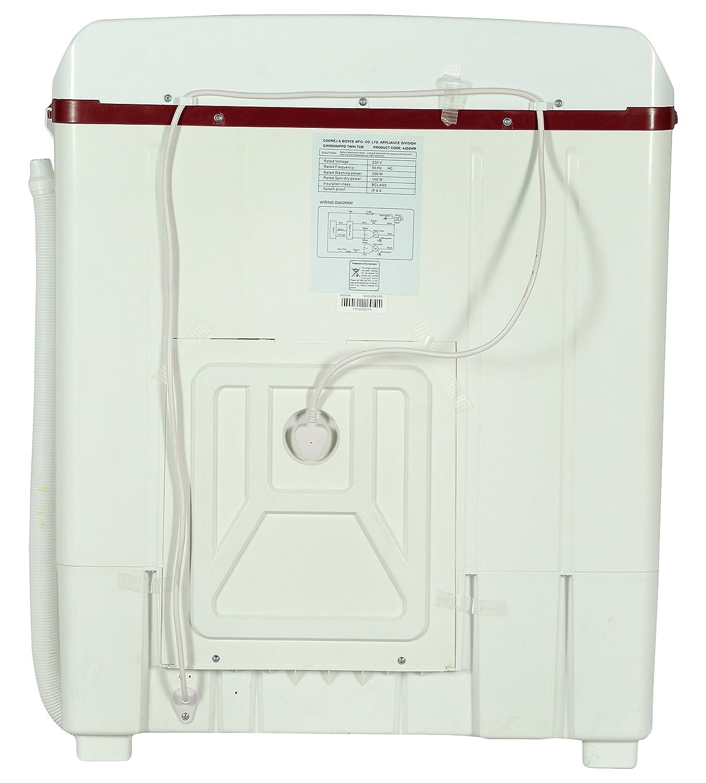 godrej 6 2 kg semi-automatic top loading washing machine (gws 6204 ppd twin  tub