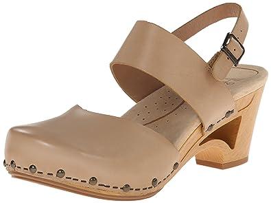 Dansko Women's Thea Dress Sandal, Sand Full Grain, 37 EU/6.5-7
