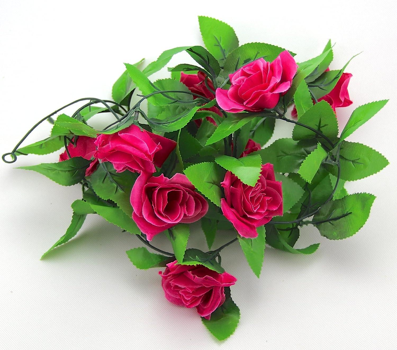 2.4m Long Silk Rose Flower Ivy Vine Leaf Garland Wedding Party Home Decor