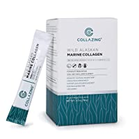 Collazing - Alaskan Wild-Caught Marine Collagen Peptides (Protein Type 1&3) + Hyaluronic...
