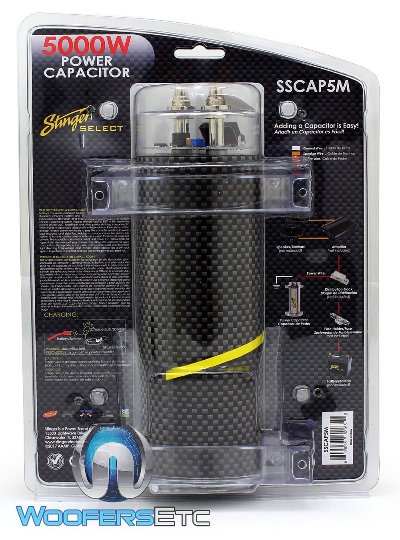 pkg Stinger Sound Quest 0 Gauge Amp Kit and Stinger Digital 4 Farad Capacitor by Stinger
