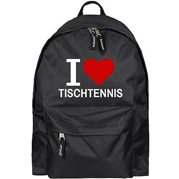 Rucksack Classic I Love Tischtennis schwarz Lustig Witzig Spr/üche Party Tasche